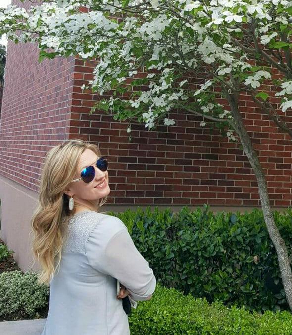 Sara by Dogwood Tree