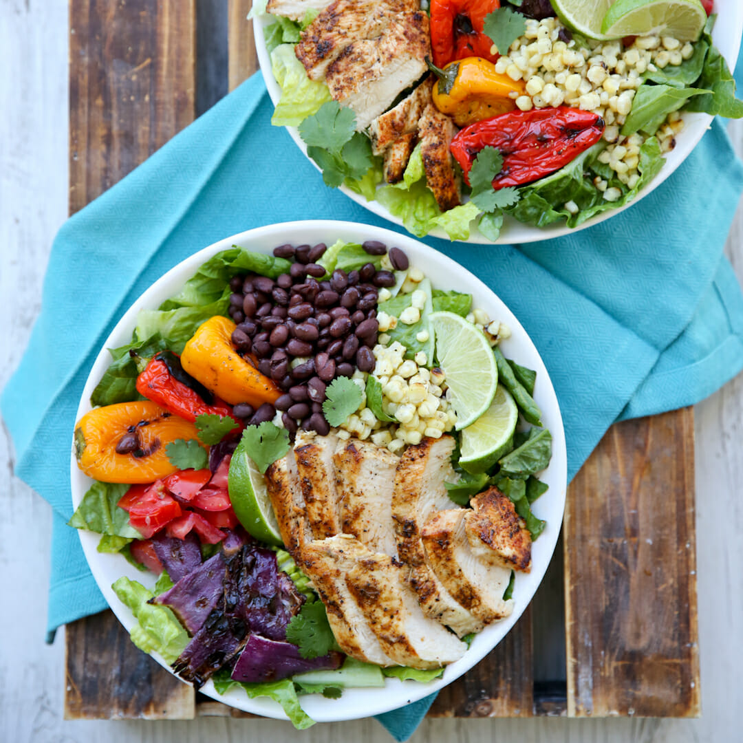 Southwest Grilled Chicken and Vegetable Salad