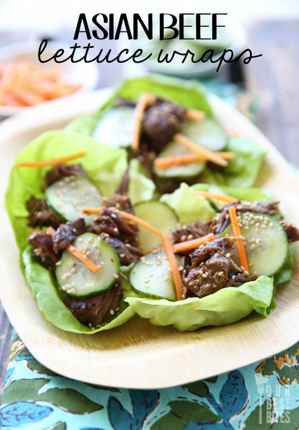 Asian Beef Lettuce Wraps from Our Best Bites
