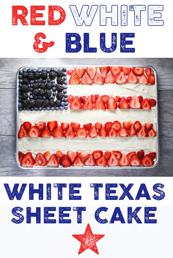 White Texas Sheet Cake With Buttermilk Cream Cheese Frosting