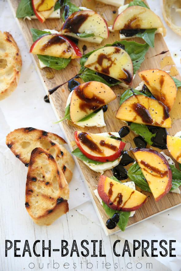 Peach Basil Caprese from Our Best Bites