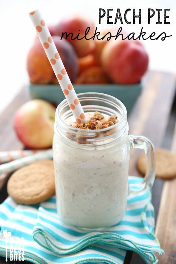 Peach Pie Milkshakes from Our Best Bites