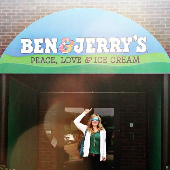Sara Wells at Ben and Jerry's