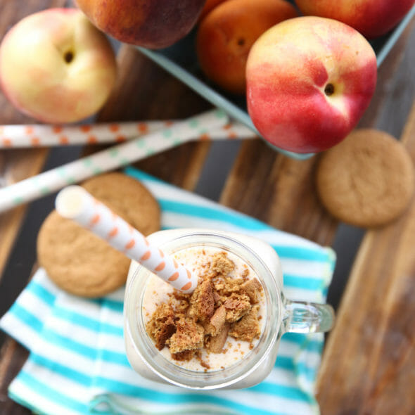 Fresh Peach Pie Milkshakes