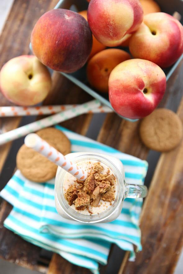 Fresh Peach Pie Shake