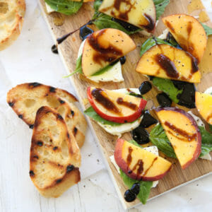 Peach-Basil Caprese Salad