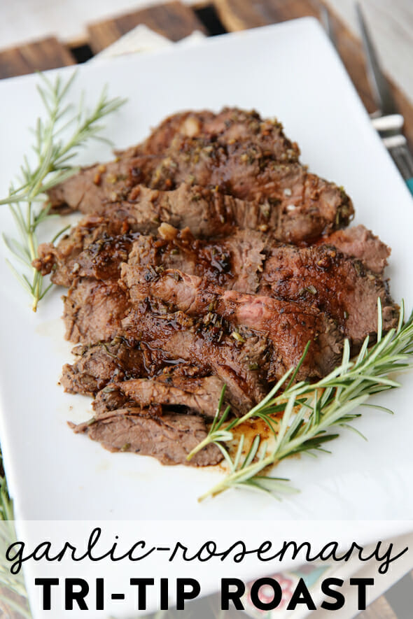 Garlic Rosemary Tri Tip Roast from Our Best Bites