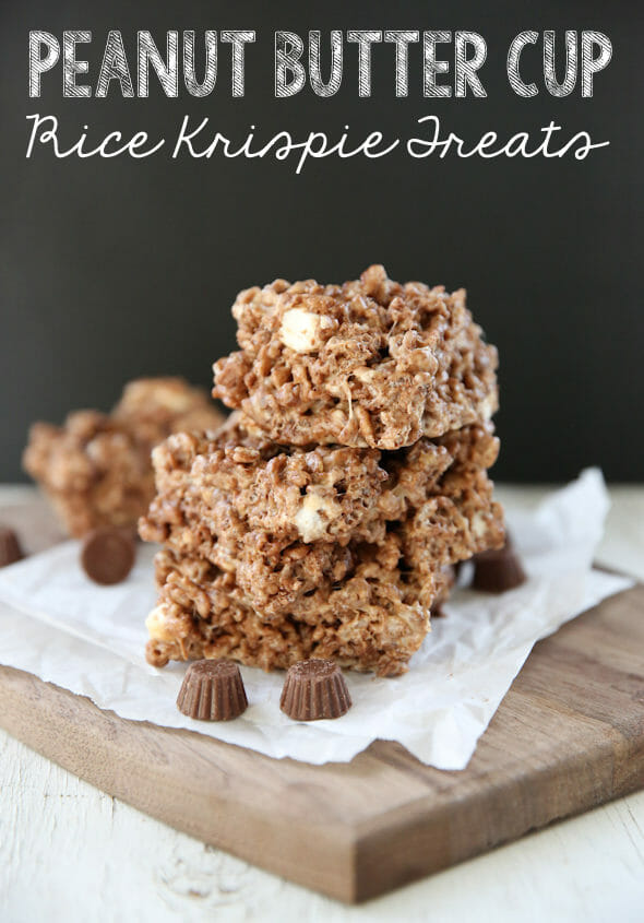 Peanut Butter Cup Rice Krispie Treats from Our Best Bites