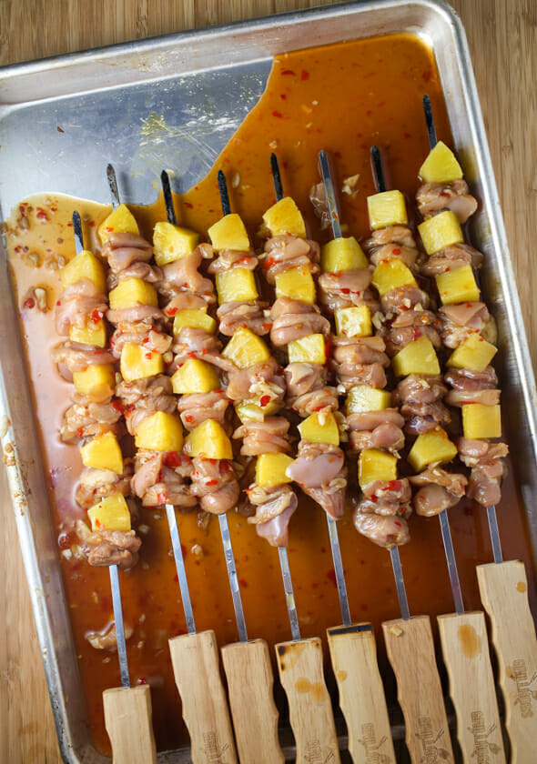Sweet Chili Pineapple Chicken Skewers-5