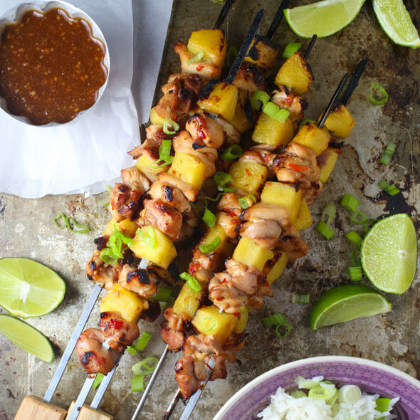 Sweet Chili Pineapple Chicken Skewers