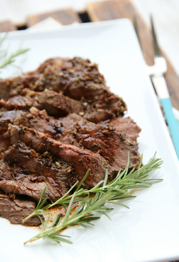 Garlic Rosemary TriTip Roast