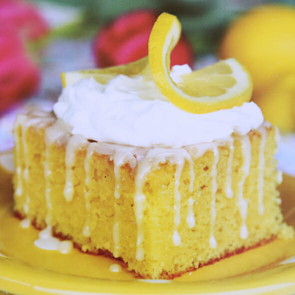 Glazed Lemon Cake Family Ties