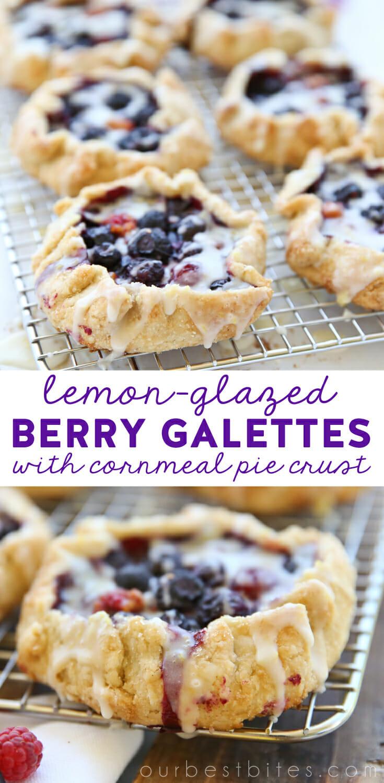 Blueberry Lemon Pies for Pinning
