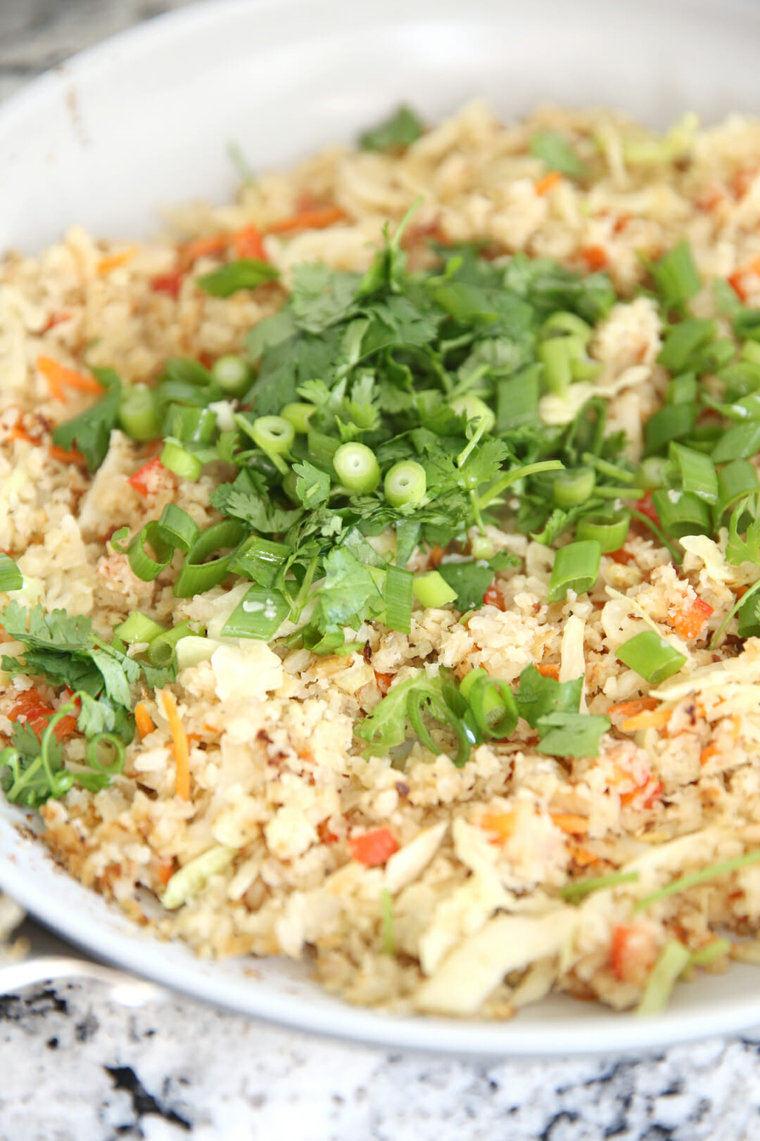 Cauliflower Fried Rice with Toppings