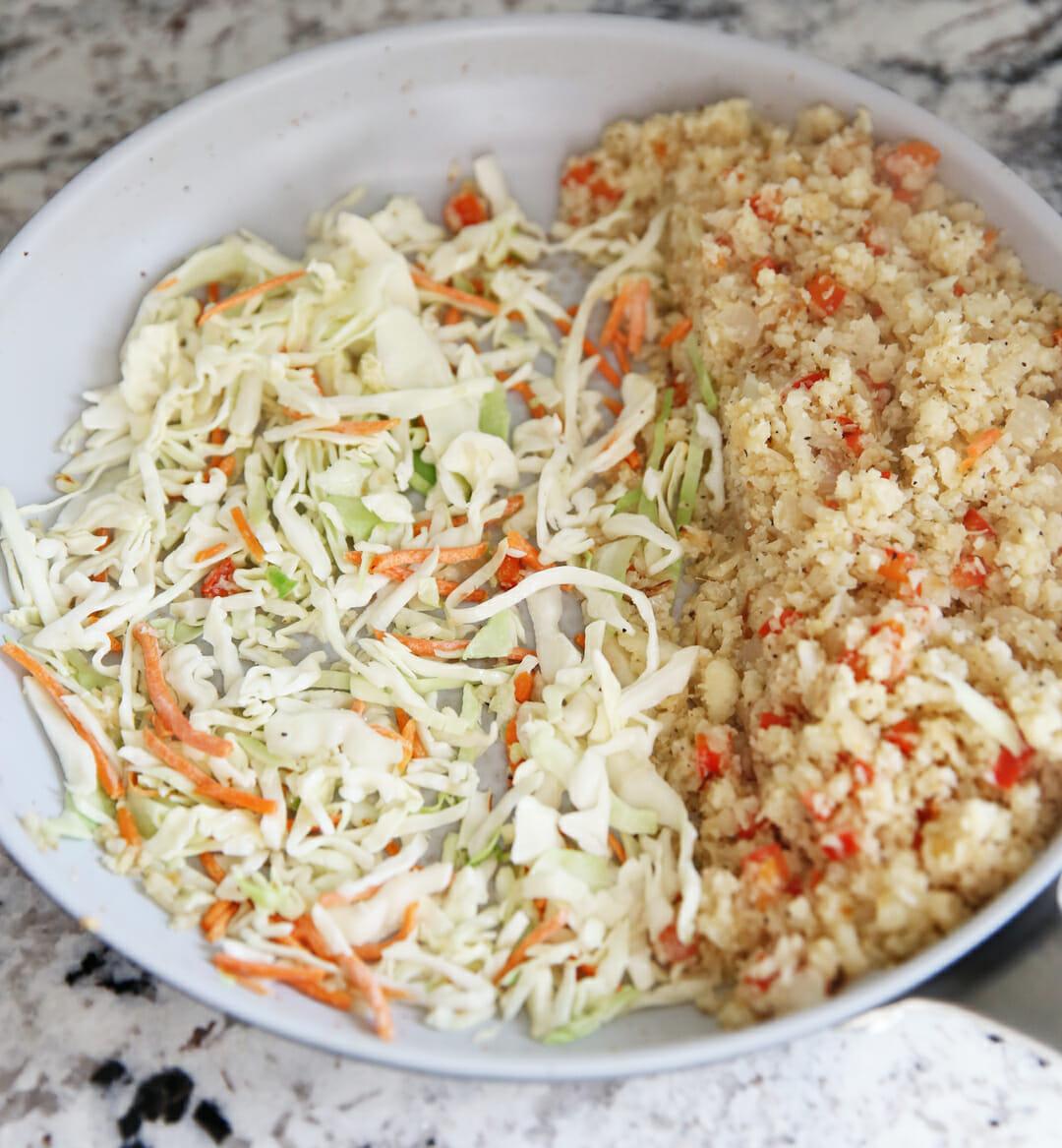 Sauting Cauliflower Rice