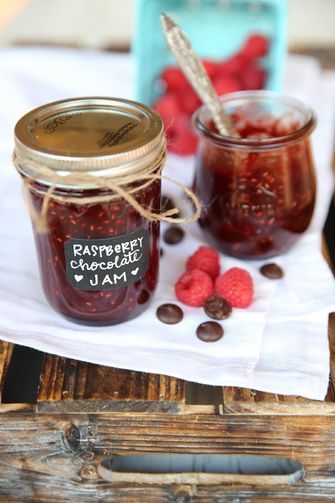 Raspberry Chocolate Jam