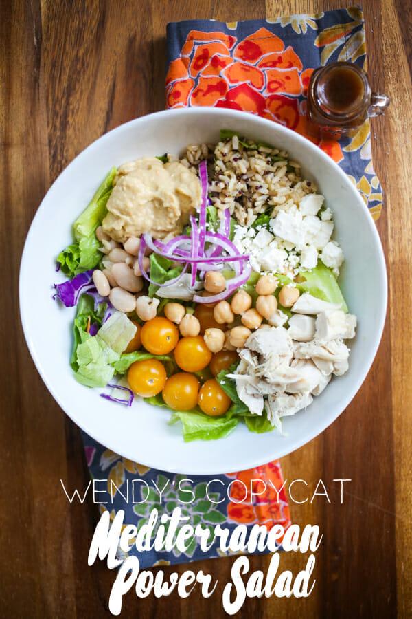 Wendy's Copycat Mediterranean Power Salad from Our Best Bites