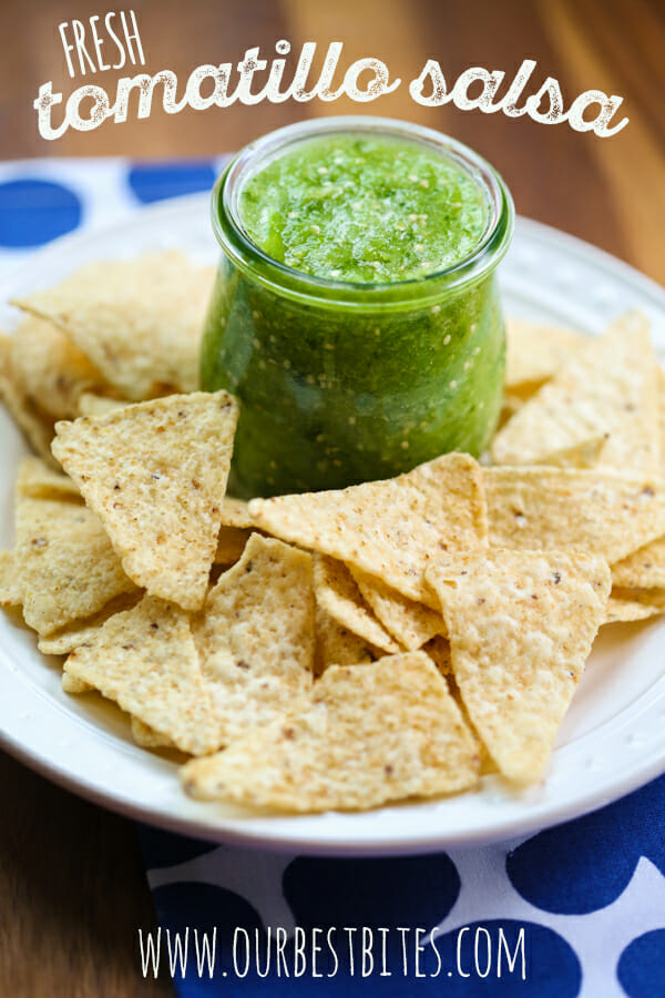 Tomatillo Salsa from Our Best Bites