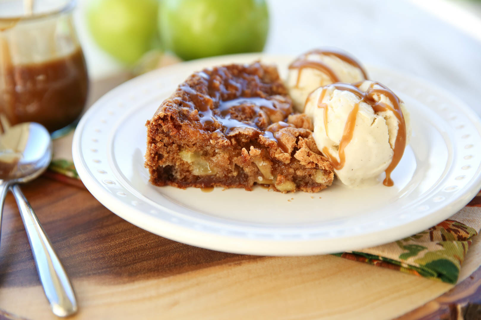 Sugar-Crusted Apple Cake