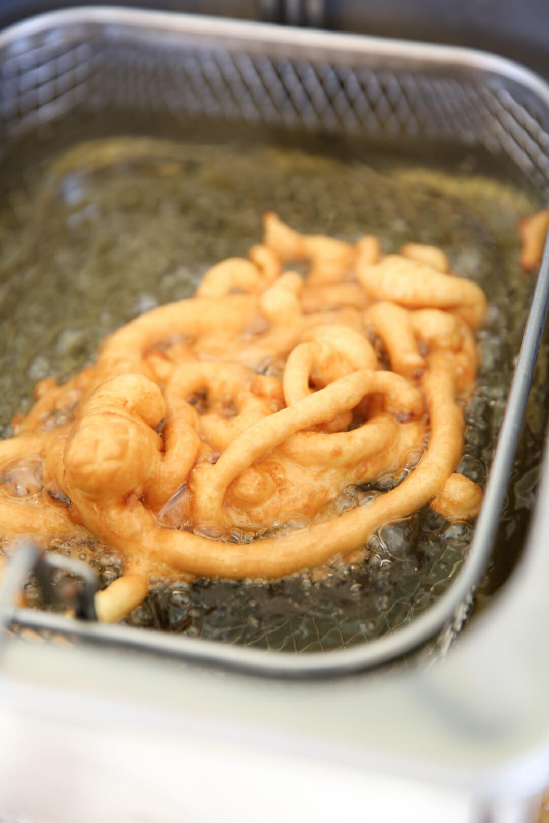 Maple Bacon Funnel Cake Recipe