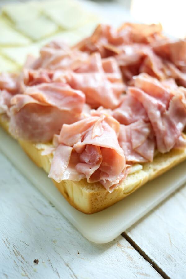 hawaiian ham and cheese sliders-7