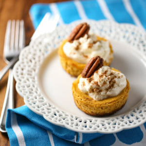 Mini Pumpkin Cheesecake Tarts