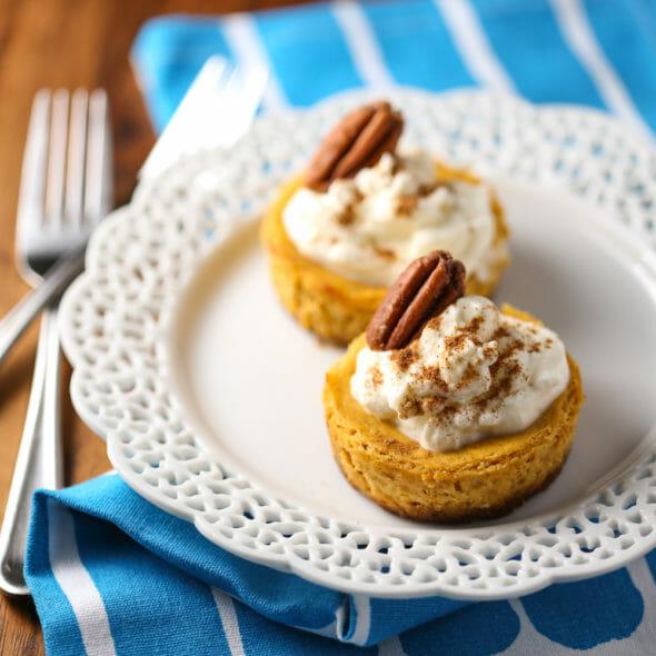 Mini Pumpkin Cheesecake Tarts