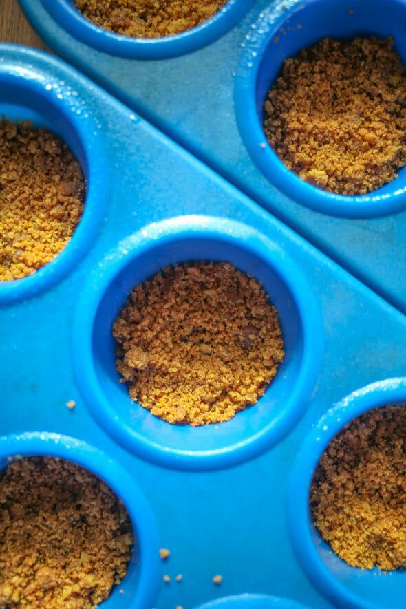 Mini Pumpkin Tarts pressed crusts