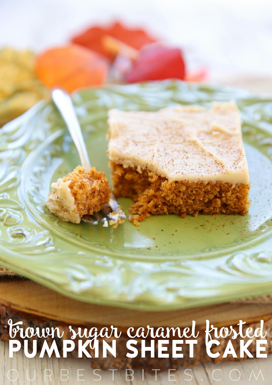 Pumpkin Sheet Cake from Our Best Bites