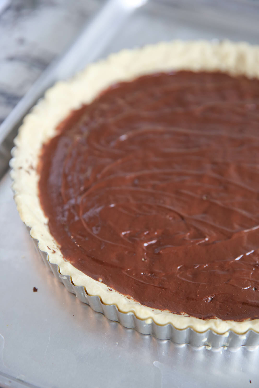 The best Holiday Dessert Recipes: Chocolate Pear Tart
