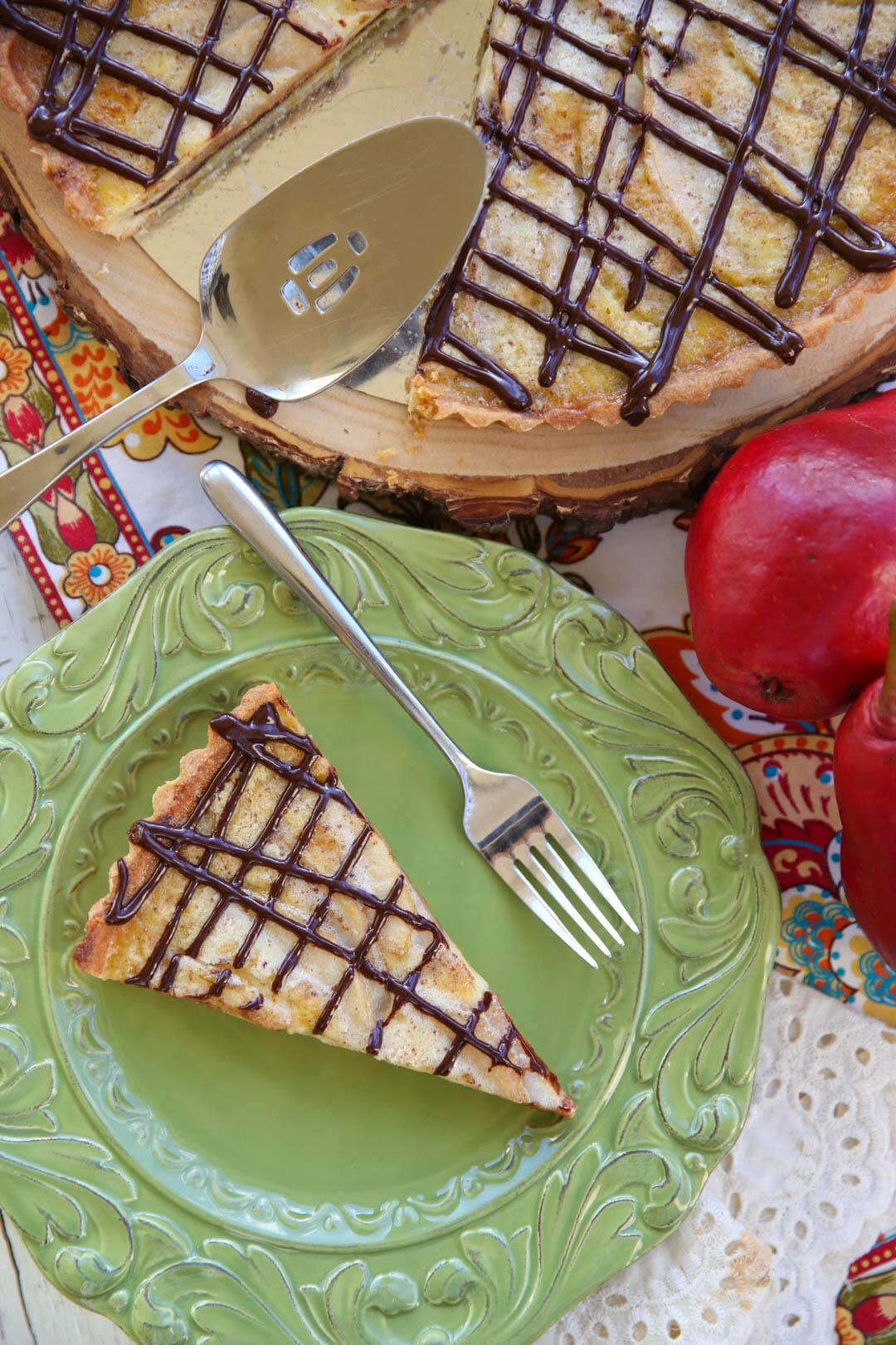 The best holiday dessert recipe - Chocolate Pear Tart