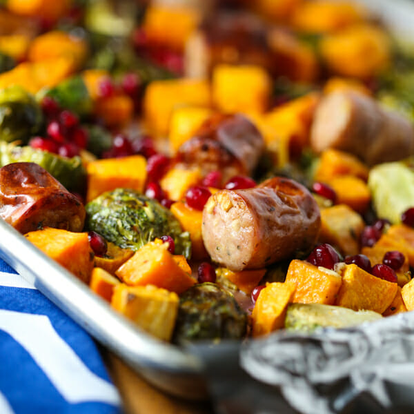 Healthy Chicken Sausage & Roasted Veggie Sheet Pan Dinner