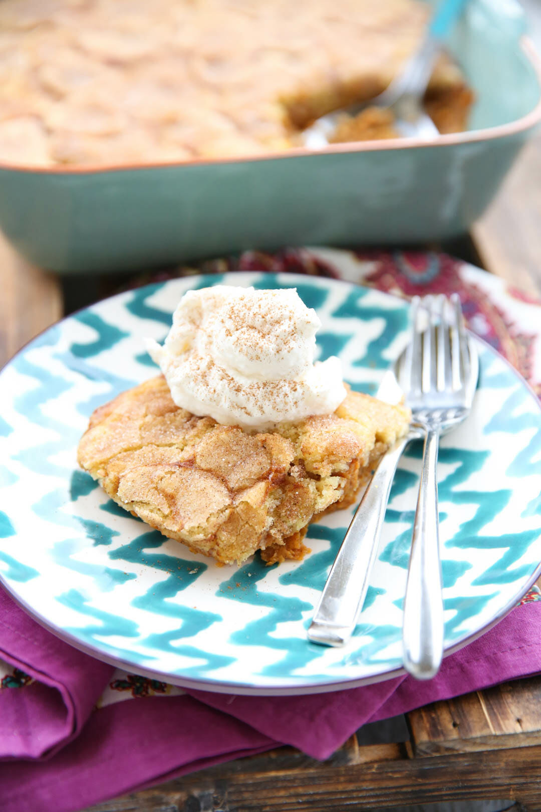 Thanksgiving Dessert: Pumpkin Snickerdoodle Cobbler