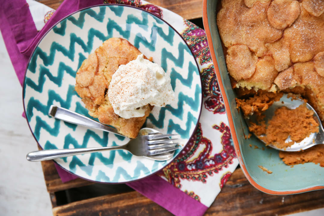 Thanksgiving Dessert Recipe: Pumpkin Snickerdoodle Cobbler