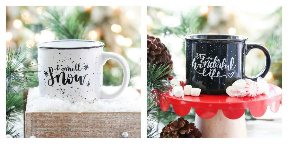 Hand-Lettered Mugs