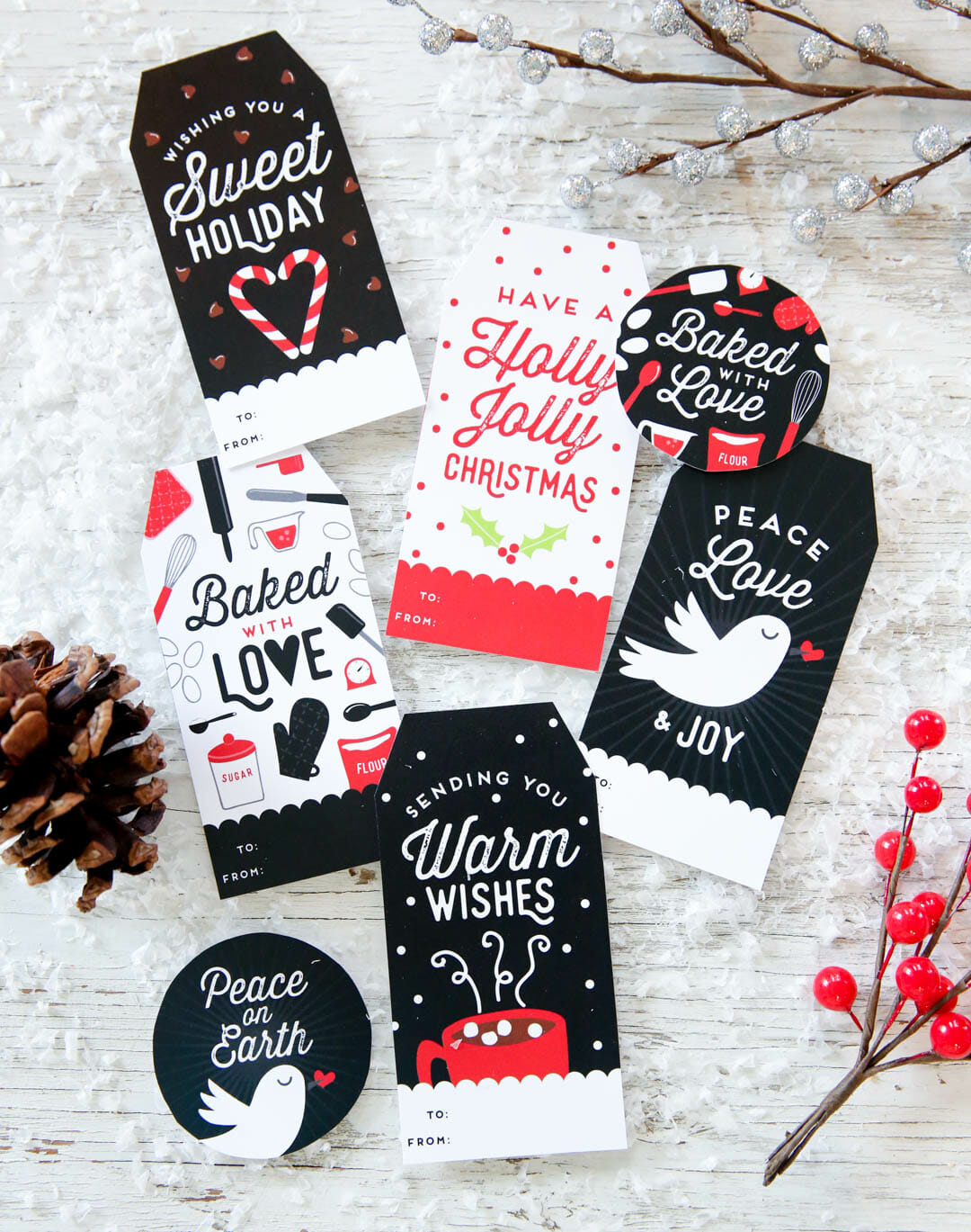 Free Personalized Holiday Gift Tags