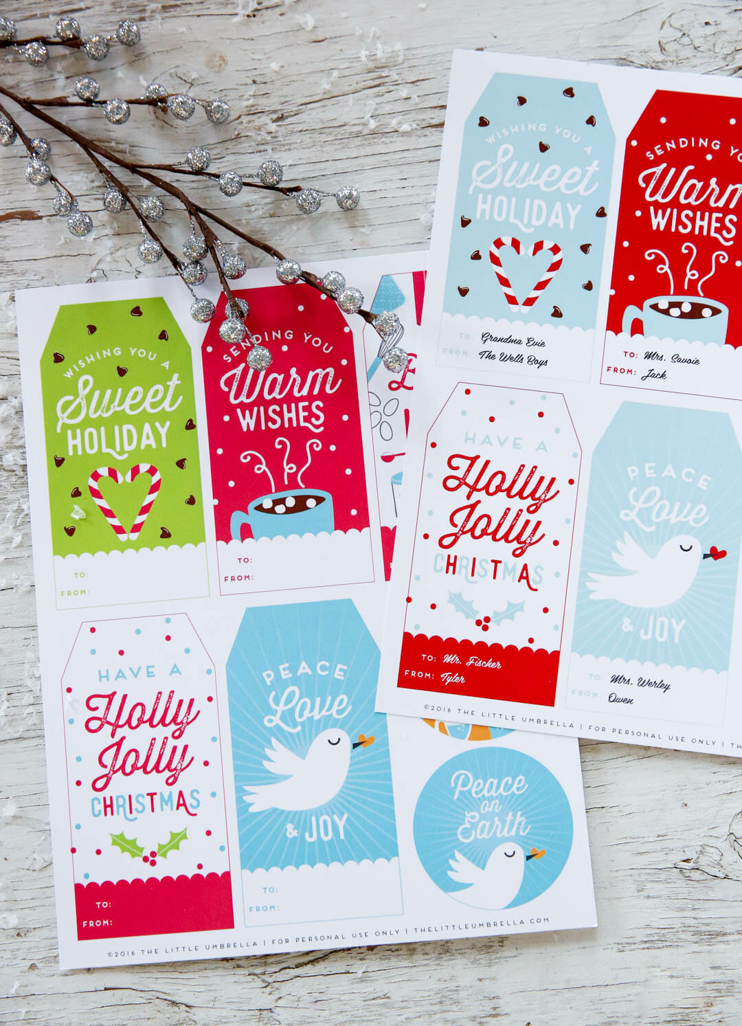 Free customizable holiday gift tags our best bites free personalized holiday gift tags negle Image collections