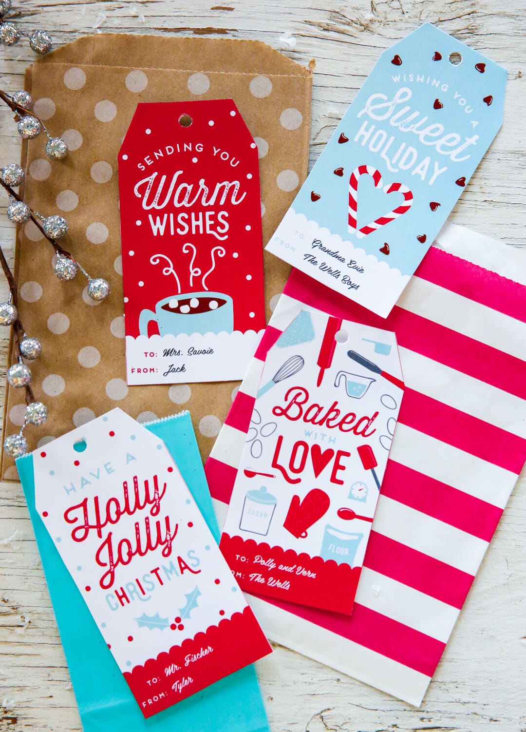 Free Customizable Holiday Gift Tags!