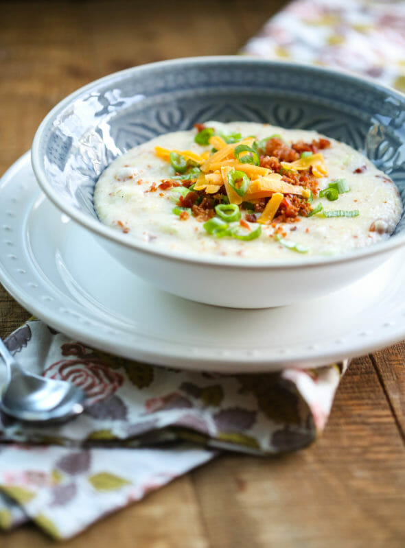 Creamy Loaded Cheese Grits from Our Best Bites