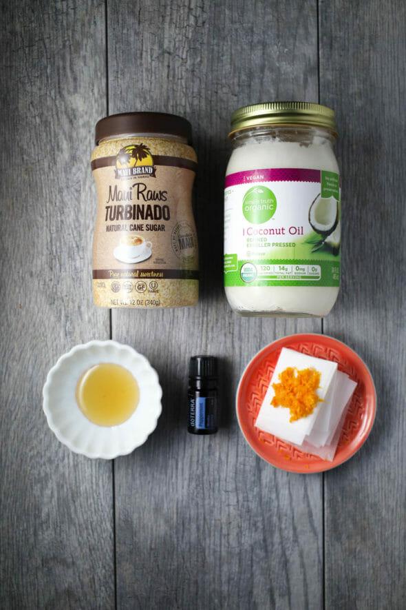 Exfoliating lip scrub recipe from Our Best Bites