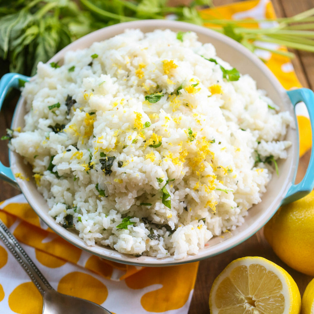 Lemon Garlic Herb Rice