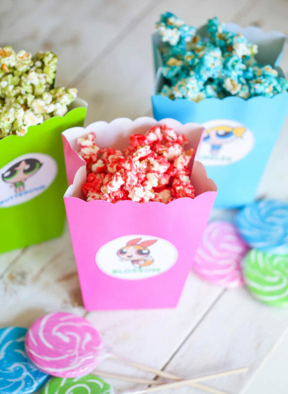Powerpuff Girls Popcorn Box Printables