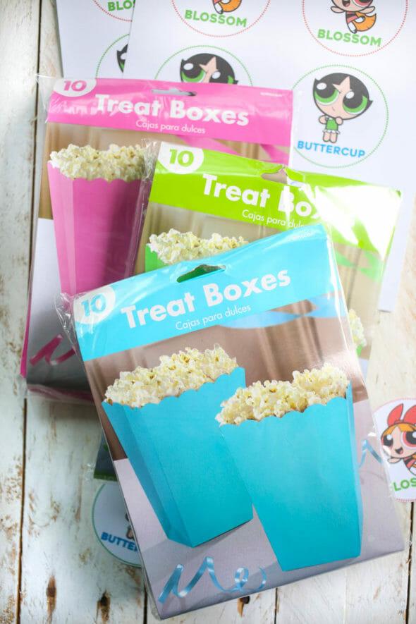 popcorn treat boxes