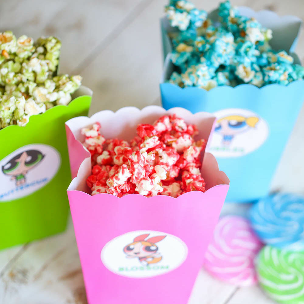 Powerpuff Girls Popcorn & Popcorn Box Printables