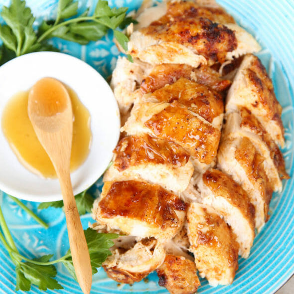 Spicy Honey Whole Roasted Chicken