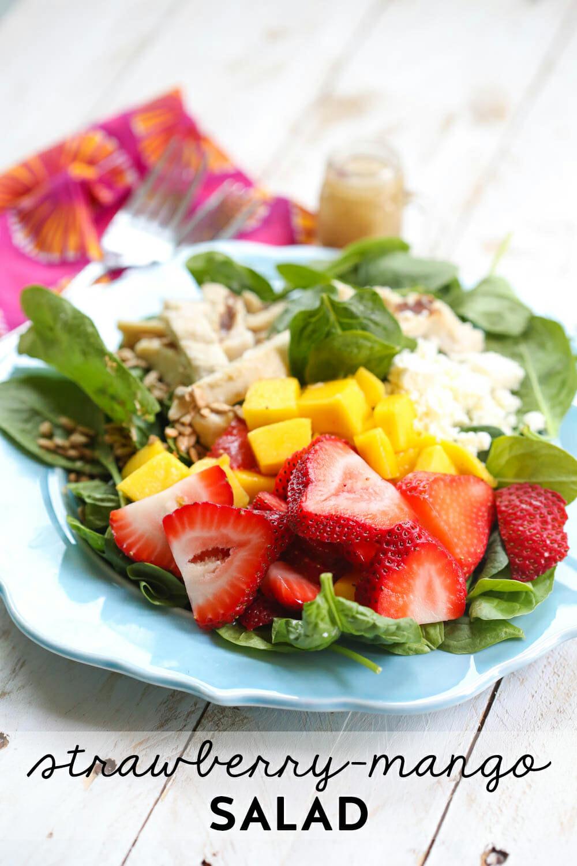 Strawberry-Mango Chicken Salad (Wendy's Copycat) - Our ...