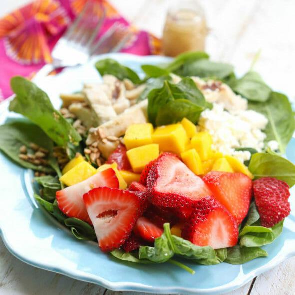 Strawberry-Mango Chicken Salad (Wendy's Copycat)
