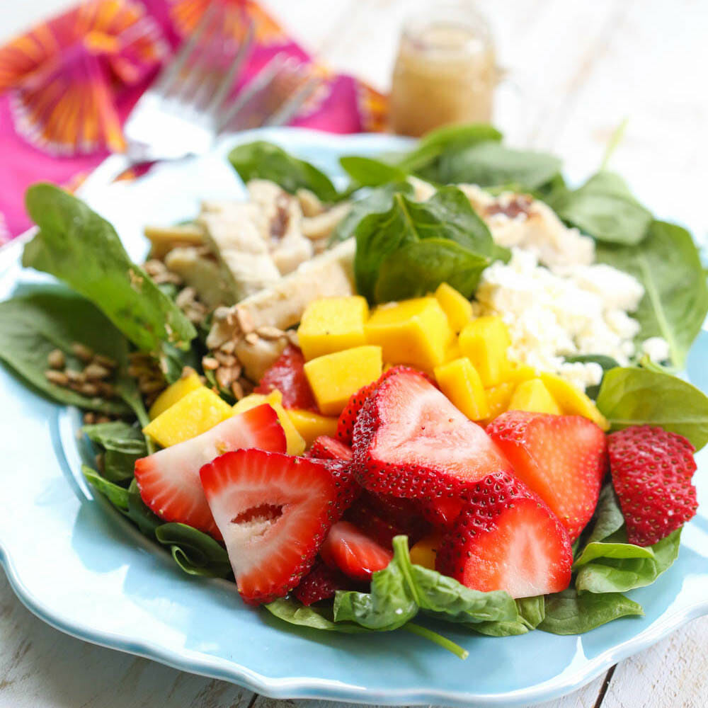 Strawberry-Mango Chicken Salad (Wendy's Copycat)