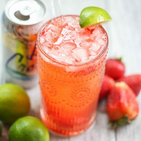 Strawberry-Coconut Lime Spritzer