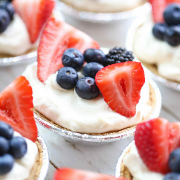 Easy Berry Cream Tarts